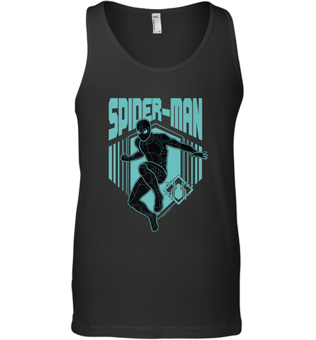 Marvel Spider Man Far From Home Stealth Suit Silhouette Men's Tank Top Men's Tank Top / Black / XS Men's Tank Top - PresentTees
