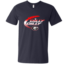 Georgia Bulldogs Dilly Dilly T-Shirt Dilly Dilly Georgia Bulldog for Football Fans Men Printed V-Neck Tee - PresentTees