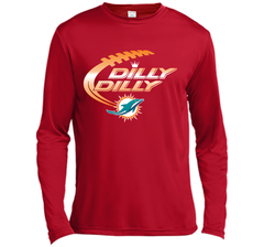Miami Dolphins MIA Dilly Dilly Bud Light T Shirt NFL Football Gift for Fans LS Moisture Absorbing Shirt - PresentTees