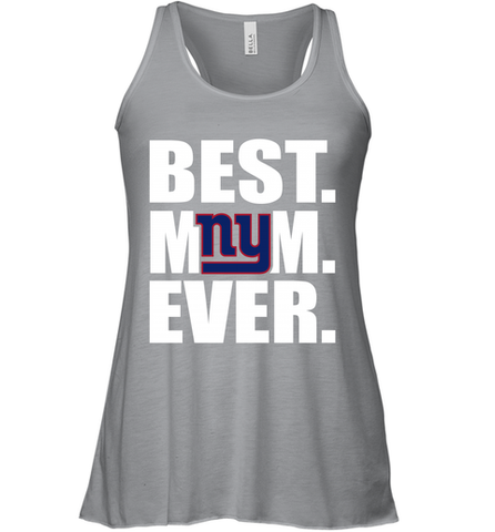 Best New York Giants Mom Ever NFL Team Mother's Day Gift Women's Racerback Tank
