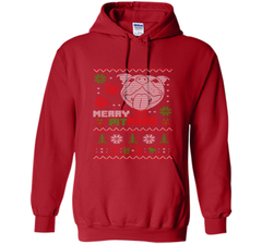 Merry Pitmas Christmas Sweater Design Gift for Pit Lovers T-Shirt Pullover Hoodie 8 oz - PresentTees