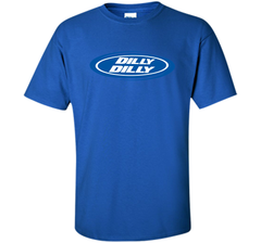 Bud Light Dilly Dilly Oval Blue Shirt Custom Ultra Cotton Tshirt - PresentTees