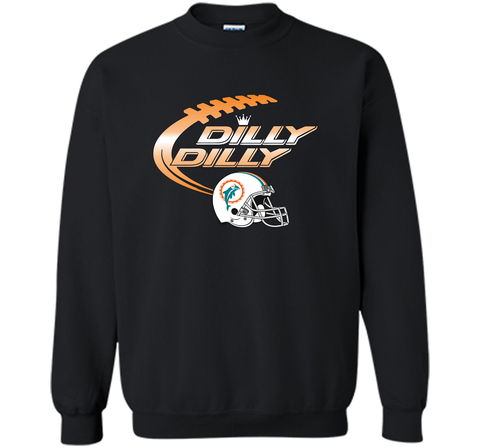 Miami Dolphins MIA Dilly Dilly Bud Light T Shirt MIA NFL Football Gift for Fans Black / Small Crewneck Pullover Sweatshirt 8 oz - PresentTees