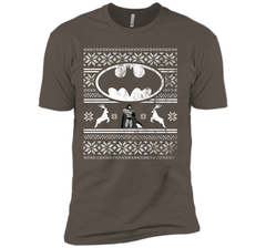 DC COMICS BATMAN FAIR ISLE CHRISTMAS Shirt Next Level Premium Short Sleeve Tee - PresentTees