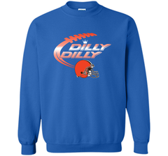 Cleveland Browns Dilly Dilly Bud Light T-Shirt NFL Football for Fans Crewneck Pullover Sweatshirt 8 oz - PresentTees