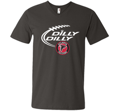 DILLY DILLY Atlanta Falcons shirt Men Printed V-Neck Tee - PresentTees