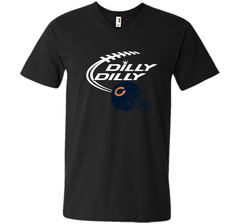 DILLY DILLY Chicago Bears NFL Team Logo Men Printed V-Neck Tee - PresentTees
