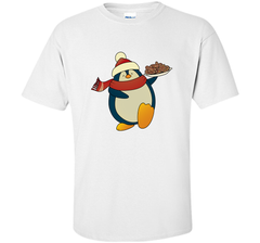 Penguin With Christmas Cookies Funny T-Shirt Custom Ultra Cotton Tshirt - PresentTees