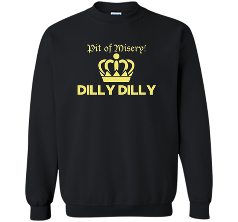 Bud Light Pit of Misery Dilly Dilly T Shirt Black / Small Crewneck Pullover Sweatshirt 8 oz - PresentTees