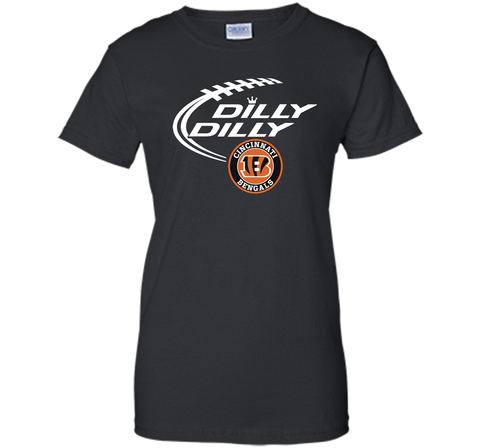 DILLY DILLY Cincinnati Bengals shirt Black / Small Ladies Custom - PresentTees