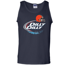 Cleveland Browns Dilly Dilly Bud Light T-Shirt CLE NFL Football Team Gift for Fans Tank Top - PresentTees