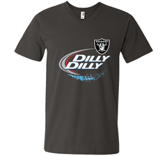 Oakland Raiders Dilly Dilly T-Shirt OAK NFL Football Gift for Fans Men Printed V-Neck Tee - PresentTees