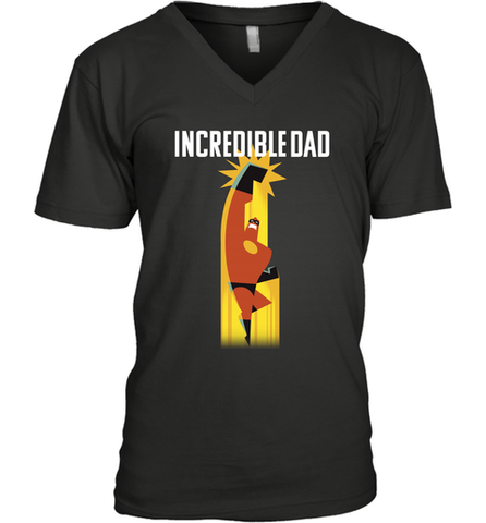 f5670cc37 Disney Pixar Incredibles 2 Dad Powers Father's Day Gifts Men's V-Neck T- Shirt