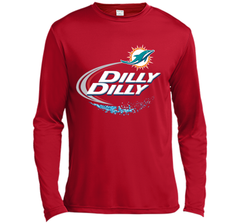 Miami Dolphins MIA Dilly Dilly Bud Light T Shirt MIA NFL Football Shirts Gift for Fans LS Moisture Absorbing Shirt - PresentTees