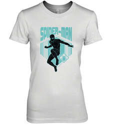 Marvel Spider Man Far From Home Stealth Suit Silhouette Women's Premium T-Shirt