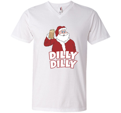 Christmas Santa Claus Dilly Dilly Shirt Gift 4 Beer T Shirt Men Printed V-Neck Tee - PresentTees