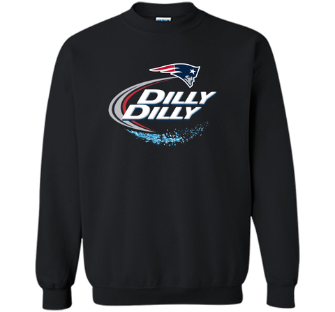 New England Patriots Dilly Dilly T-Shirt NFL Football Gift Fans Black / Small Crewneck Pullover Sweatshirt 8 oz - PresentTees