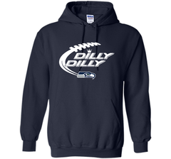 Seattle Seahawks Dilly Dilly Bud Light T Shirt SEA NFL Football Gift for Fans Pullover Hoodie 8 oz - PresentTees