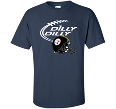 DILLY DILLY Pittsburgh Steelers NFL Team Logo Custom Ultra Cotton Tshirt - PresentTees