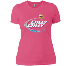 Vikings Dilly Dilly T-Shirt Minnesota Vikings NFL Football Gift Fans Next Level Ladies Boyfriend Tee - PresentTees