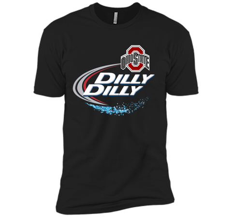 Dilly Dilly Ohio State Buckeyes T Shirt Ohio State Dilly Dilly Bud Light Shirts Black / Small Next Level Premium Short Sleeve Tee - PresentTees