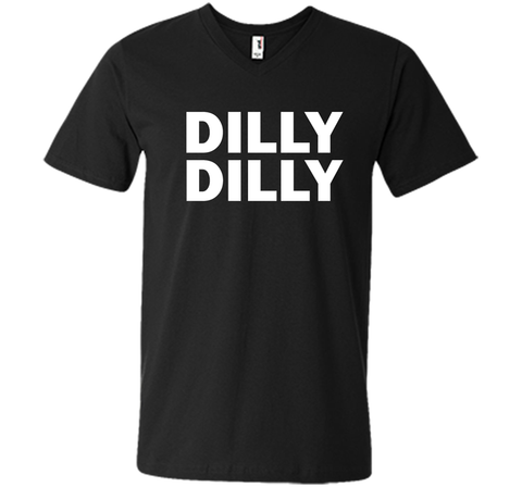 Bud light Dilly Dilly T-Shirt Black / Small Men Printed V-Neck Tee - PresentTees