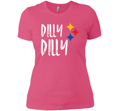 Dilly Dilly Pit of Misery Beer Roethlisberger Beer Football Pittsburgh Steelers Sweater Next Level Ladies Boyfriend Tee - PresentTees