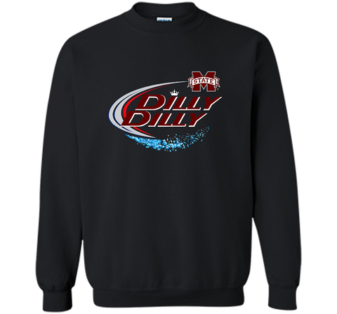 Dilly Dilly Mississippi State Logo American Team Bud Light T-Shirt Black / Small Crewneck Pullover Sweatshirt 8 oz - PresentTees