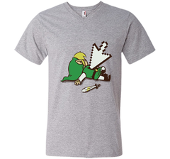 Zelda Deadlink T-Shirt Men Printed V-Neck Tee - PresentTees