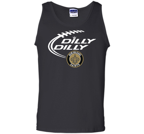 DILLY DILLY  New Orleans Saints shirt Black / Small Tank Top - PresentTees