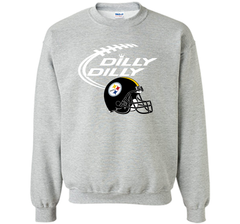 DILLY DILLY Pittsburgh Steelers NFL Team Logo Crewneck Pullover Sweatshirt 8 oz - PresentTees
