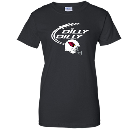 DILLY DILLY Arizona Cardinals NFL Team Logo Black / Small Ladies Custom - PresentTees