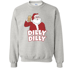 Christmas Santa Claus Dilly Dilly Shirt Gift 4 Beer T Shirt Crewneck Pullover Sweatshirt 8 oz - PresentTees