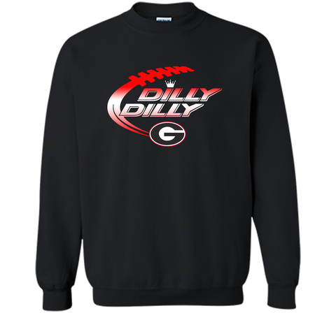 Georgia Bulldogs Dilly Dilly T-Shirt Dilly Dilly Georgia Bulldog for Football Fans Black / Small Crewneck Pullover Sweatshirt 8 oz - PresentTees