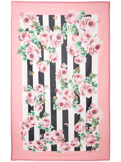 Dolce & Gabbana Floral and stripe print towel