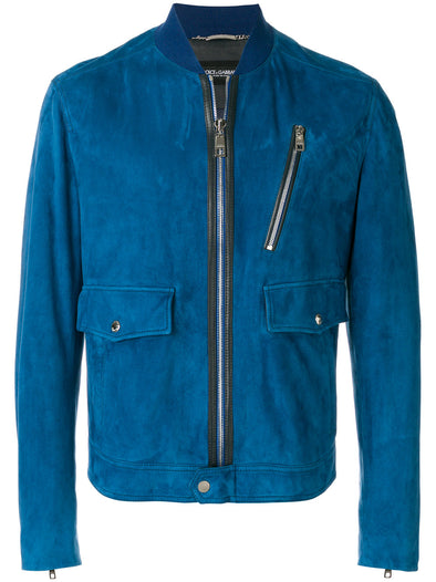 Dolce & Gabbana Suede Leather Jacket