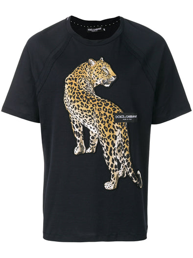 Dolce & Gabbana Leopard Patch T-shirt
