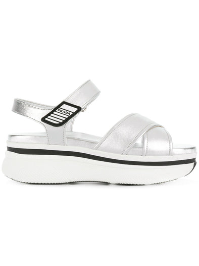 Prada Platform cross strap sandals