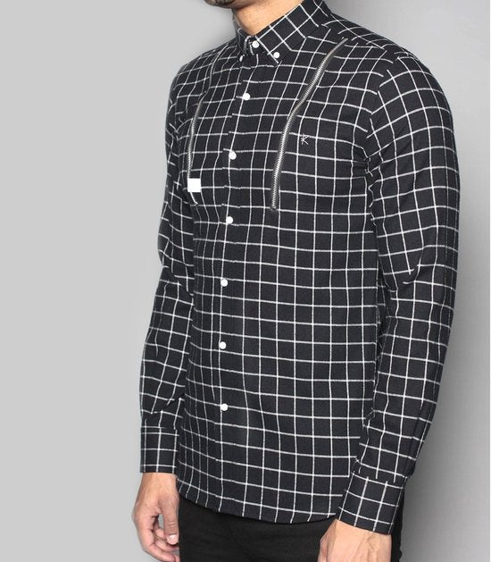 Amery chequered shirt with zips by Risk Sport