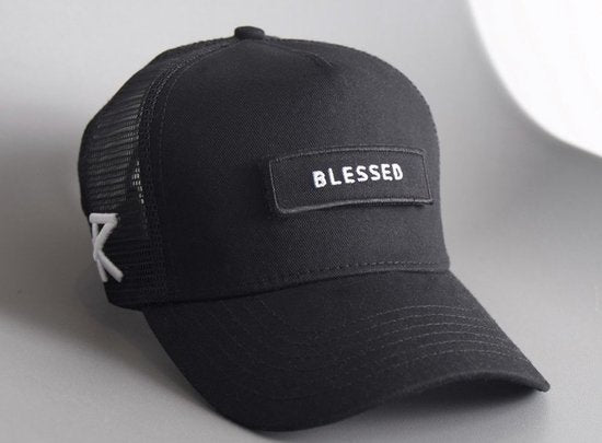Blessed black snapback by Risk Sport