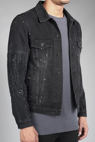 Jacko black denim jacket by Risk Sport