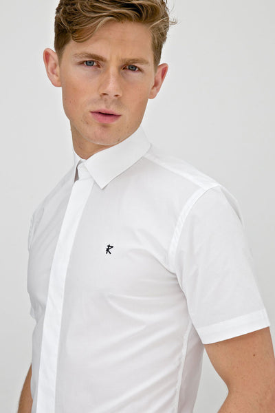 Carlo white short sleeve shirt