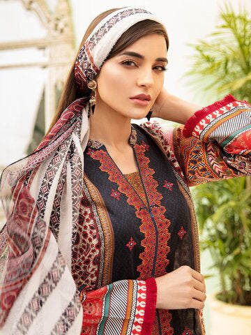 Silk embroidered dresses