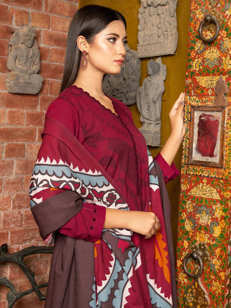 3-PC SLUB KHADDAR SUIT