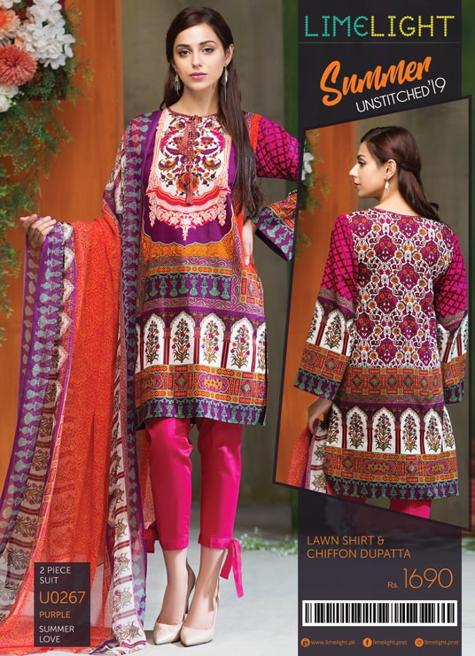 02ca87ffe9 BUY LATEST DESIGN WOMEN'S UNSTITCHED LAWN SUITS IN PAKISTAN 2019