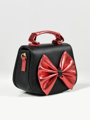 Shiny Bow Bag