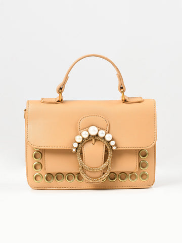Pearl Buckled Handbag
