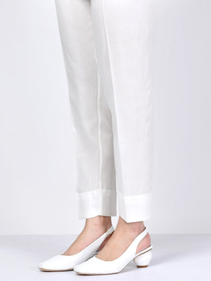Winter Cotton Trouser - White