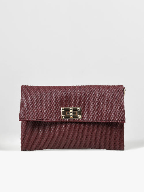 Weave Patterned Clutch
