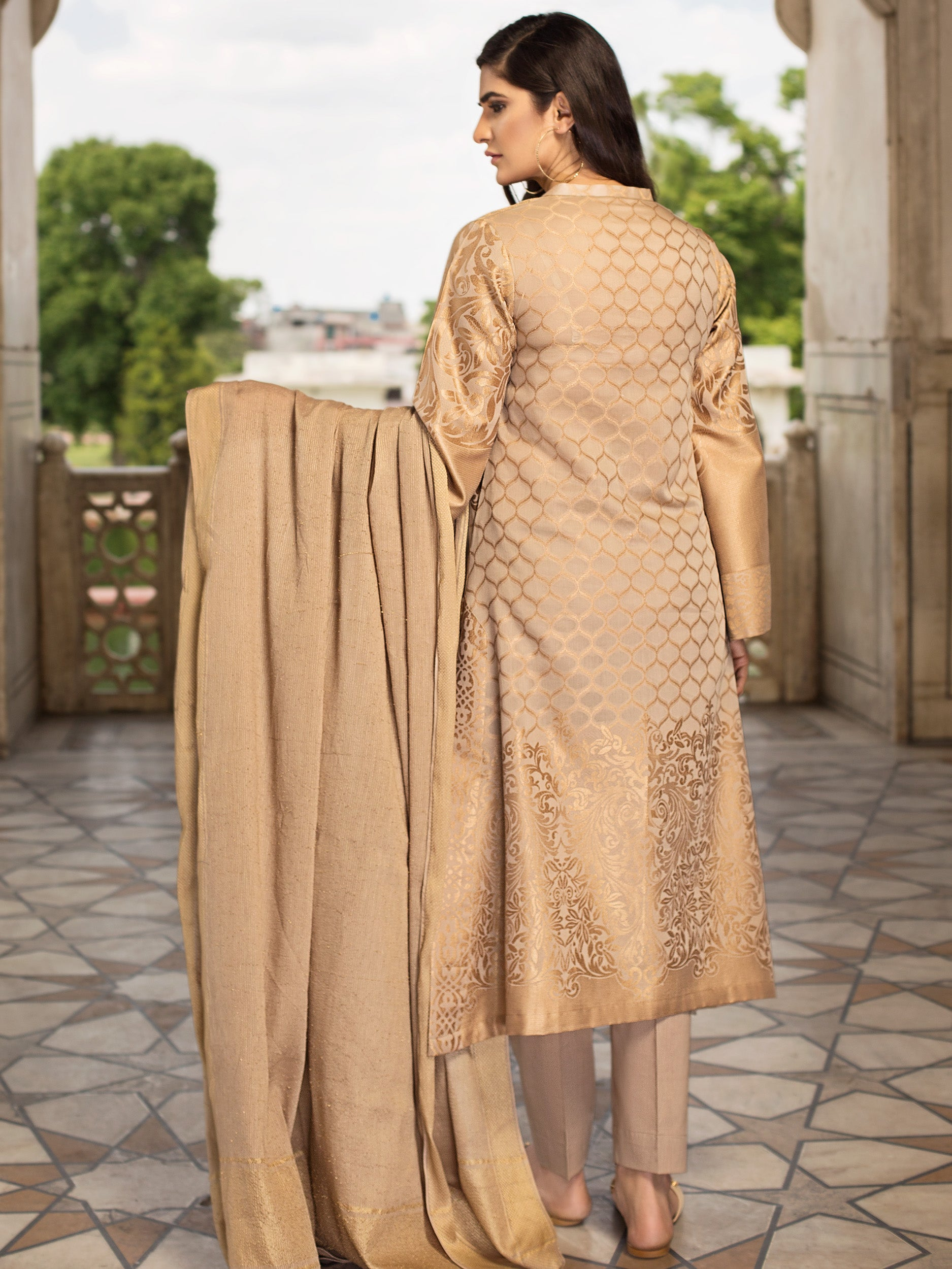 3-Pc Jacquard Suit